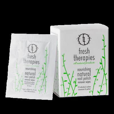 fresh therapies - natural nail polish remover wipes