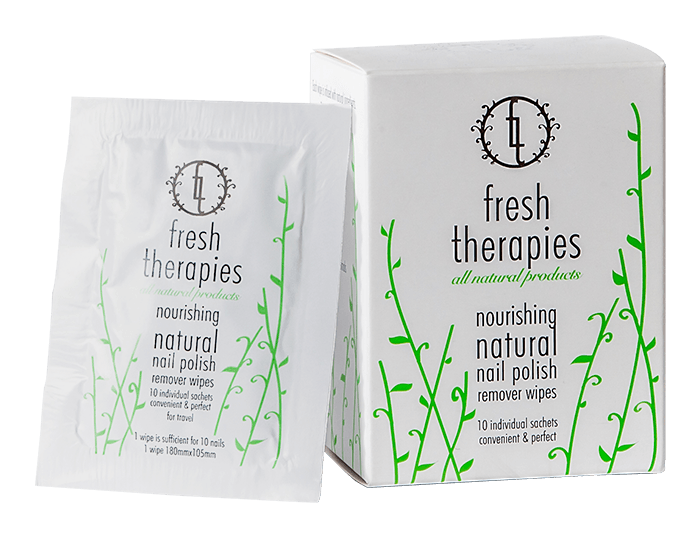 fresh therapies - natural nail polish remover wipes