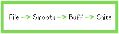 nail filing - using nail buffers
